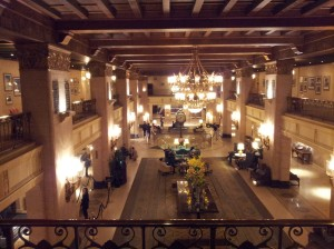 Hotel Lobby Viewed from the Mezzanine