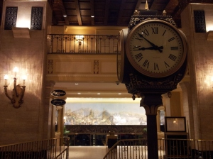 Lobby View of the Clock